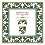 Blomma för stjärna för vinranka för ram 194 för tappning 3D spiral Royaltyfri Foto