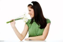 blomma fjädern Royaltyfria Bilder
