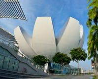 Blomma-format ArtScience museum i Singapore Royaltyfri Bild
