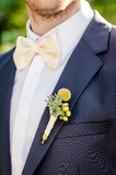 Blomma för bröllopknapphål Royaltyfri Bild