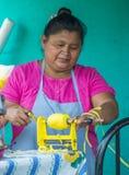 Blomma & gömma i handflatan festivalen i Panchimalco, El Salvador Arkivfoton