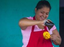 Blomma & gömma i handflatan festivalen i Panchimalco, El Salvador Royaltyfri Bild