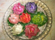Blomma garneringen Arkivfoto
