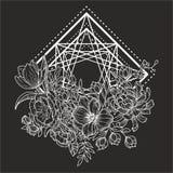 Blomma geometry2 vektor illustrationer