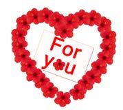 blomma hjärta Royaltyfria Bilder