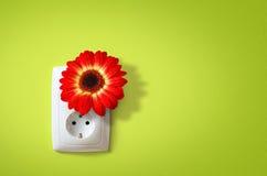 Grön elektricitet Royaltyfria Bilder