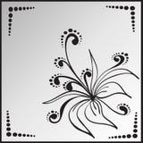 Blomma i fyrkantig ram royaltyfri illustrationer