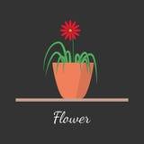 Blomma i krukavektorillustrationen Vektor Illustrationer