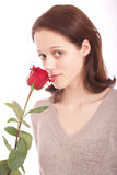blomma kvinnabarn Royaltyfria Bilder