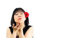 blomma kvinnor Fotografering för Bildbyråer