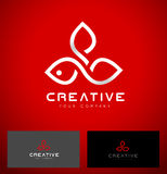 Blomma Logo Design Royaltyfria Bilder