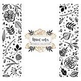 Blomma Logo Template Botanisk samling för blom- anmärkningar Blommor vektor illustrationer