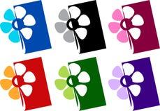 blomma logoen Royaltyfri Bild