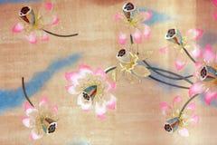 blomma lotusblommamålningar Royaltyfri Foto