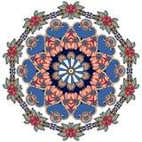 Blomma - mandala på vit bakgrund Arabiska indier, turk, kinesiska bevekelsegrunder royaltyfri illustrationer