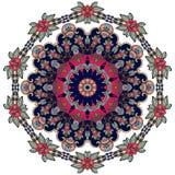 Blomma - mandala på vit bakgrund Arabiska indier, turk, Pakistan, kines, bevekelsegrunder vektor illustrationer