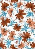 Blomma med sidatryckdesign Arkivbilder