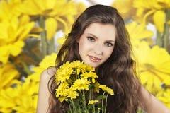 blomma ny flickayellow Royaltyfri Fotografi