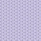 Blomma och geometrisk prydnad, lila Royaltyfria Bilder
