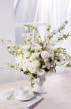 Blomma och kaffe Royaltyfri Foto