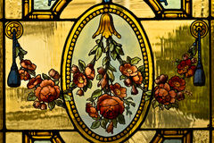 Blomma på exponeringsglaset Arkivbild