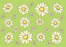 Blomma p? gr?n bakgrund vektor illustrationer
