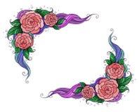 blomma ramen Royaltyfri Foto