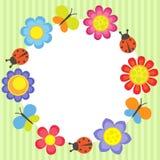 blomma ramen Royaltyfri Bild