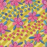 Blomma rosa färger för diagonala sömlösa modellblått för stil vektor illustrationer
