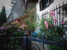 Blomma-stycke i Hallstatt Arkivfoto