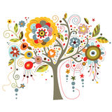 blomma tree Royaltyfri Bild