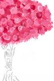 blomma treen vektor illustrationer