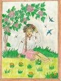 Blomma Ukraina royaltyfri illustrationer
