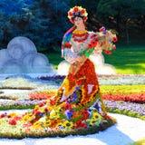 Blomma utställningen i Kiev som är hängiven till enhet och fred i Ukraina Royaltyfria Foton
