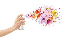 Blomma-vädrade rumsprejer och blommor från inre Royaltyfri Bild
