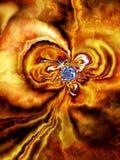 Blommaabstrakt begrepp II arkivfoton
