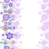 Blommabakgrund med ett ställe för text Arkivbild