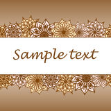Blommabakgrund med utrymme av din text Royaltyfri Fotografi