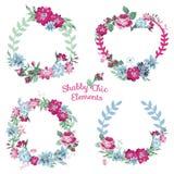 Blommabaner och etiketter Royaltyfria Foton
