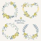 Blommabaner och etiketter Royaltyfri Fotografi