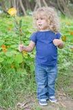 Blommabarn Fotografering för Bildbyråer