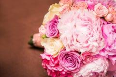 Blommabröllopbouque Arkivbild