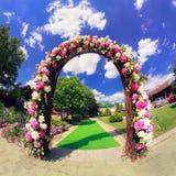 Blommabröllopport Arkivfoton