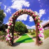 Blommabröllopport Royaltyfria Bilder