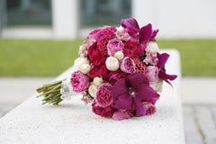 Blommabröllopbouque Royaltyfri Foto