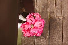 Blommabukett av pionen Royaltyfri Fotografi