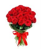 Blommabukett av röda rosor Arkivbild