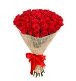 Blommabukett av 50 röda rosor Royaltyfri Fotografi
