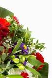 Blommabukett med avstånd för text royaltyfri foto