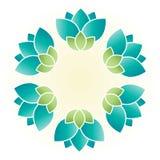 blommacirkel royaltyfri illustrationer